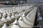 Thousands of tents housing Muslim pilgrims are crowded together in Mina near Mecca, Saudi Arabia, Sunday, Nov. 14, 2010. (AP Photo/Hassan Ammar) #