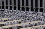 Muslim pilgrims pray outside Namira mosque in Arafat near Mecca, Saudi Arabia, Monday, Nov. 15, 2010. (AP Photo/Hassan Ammar) #