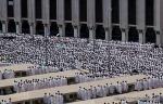 Muslim pilgrims pray outside Namira mosque in Arafat near Mecca, Saudi Arabia, Monday, Nov. 15, 2010. (AP Photo/Hassan Ammar) #