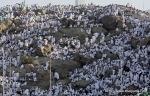 Pilgrims pray on the side of Mount Arafat, near Mecca, Saudi Arabia on Monday, Nov. 15, 2010. (AP Photo/Hassan Ammar) #