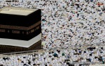 Tens of thousands of Muslim pilgrims pray inside the Grand Mosque, during the annual Hajj in Mecca, Saudi Arabia on Friday, Nov. 12, 2010. (AP Photo/Hassan Ammar) #